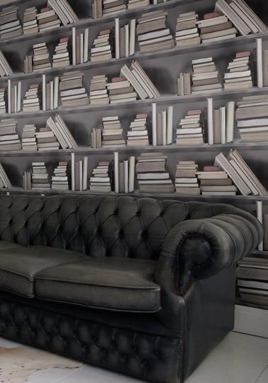 Wallpaper Bookshelf, Vintage