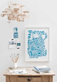 City map print - San-Francisco, Blue