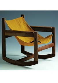 Pelicano rocking chair - Gold