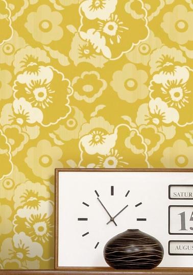 Wallpaper Alice - Mustard