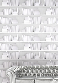 Wallpaper Bookshelf - White