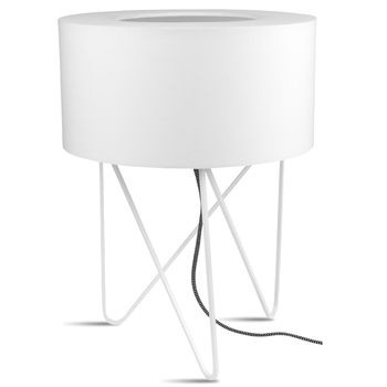 White Tribeca table lamp
