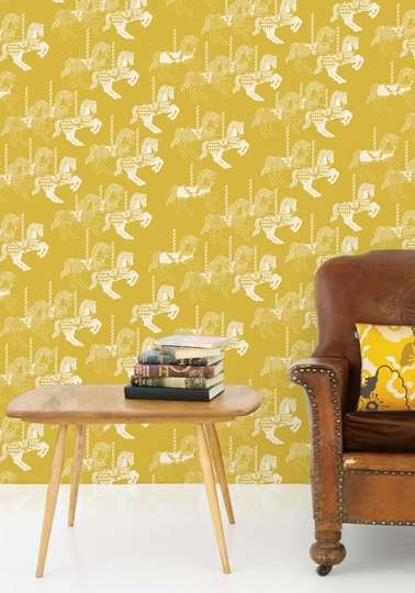 Wallpaper Fayres - Mustard