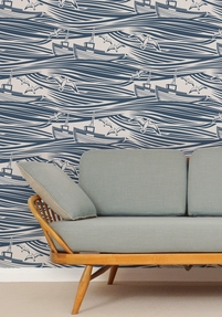 Wallpaper Whitby - Washed Denim