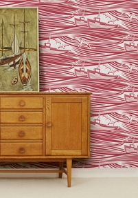 Wallpaper Whitby - Awning Red