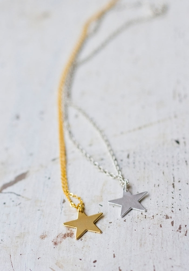 Star Pendant Necklace, Gold