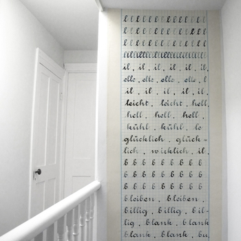 Wallpaper 'Cahier d'ecriture' by Madame Chalet
