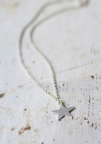 Star Pendant Necklace, Silver