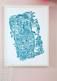 City map print New-York, Blue
