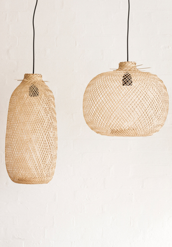 Bamboo pendant light - LARGE