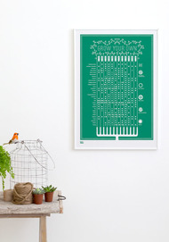 Grow Your Own print, Green