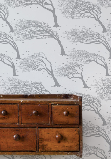 Northeasterly Wallpaper - Soft Grey