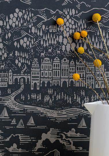 Province Wallpaper - Graphite