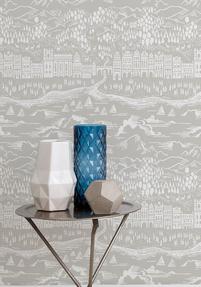 Province Wallpaper - Natural Grey