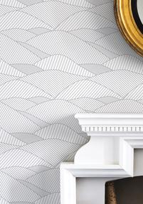 South Downs Wallpaper - Heron Grey