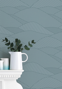 South Downs Wallpaper - Sea Grey