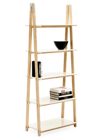 One Step Up bookcase, high, white