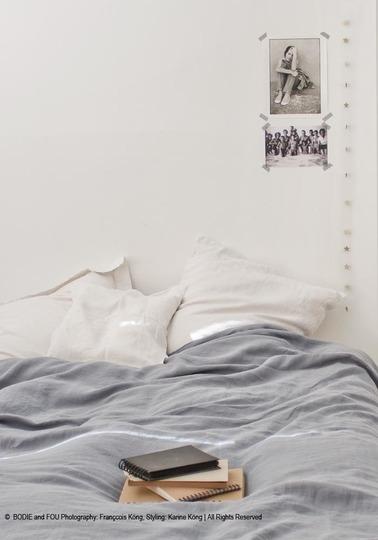 Linen duvet cover 240 x 220 cm, Blue grey