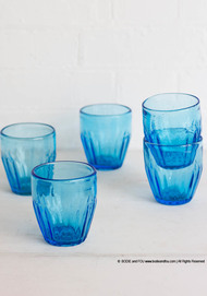 Turquoise blue tumblers, set of 4