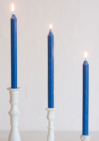 Royal Blue Candles (Set of 6)