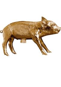 Harry Allen Piggy Bank, Gold