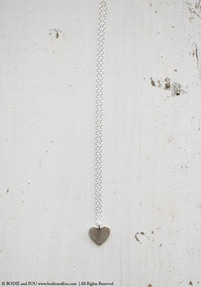 Heart Pendant Necklace, Silver