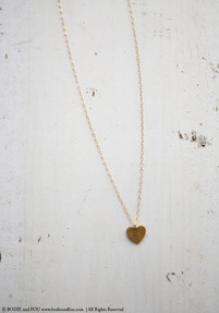 Heart Pendant Necklace, Or