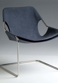 Paulistano chair - Blue grey canvas cover