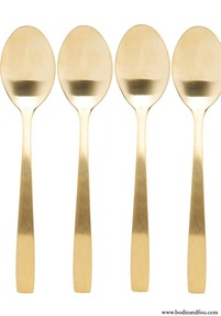 Set de 4 Table Spoons Elegant, Gold