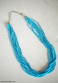 Kos Pendant Necklace, Turquoise