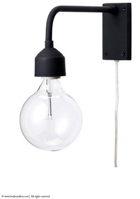 Black wall light