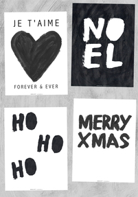 4 x Bodie and Fou Christmas cards