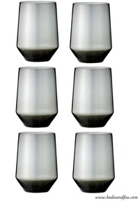 Drinking glasses, grey (set of 6)
