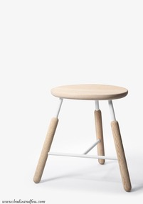 Stool NA3, Natural oak