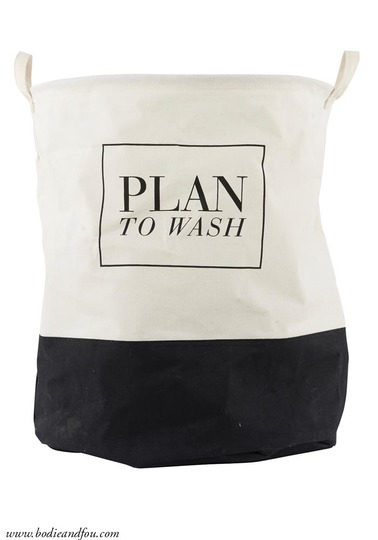 "Laundry bag ""Plan to wash'"