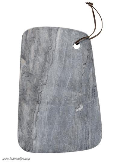 Marble chopping board, grey