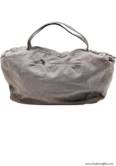 Canvas travel bag, Grey