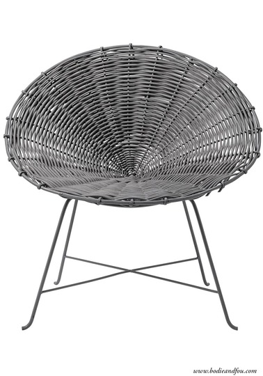 Kubu rattan chair, Grey