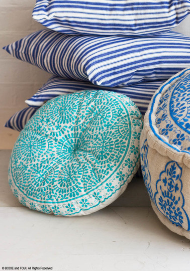 SAMPLE Souk Cushion, Turquoise