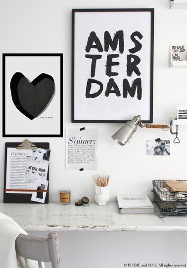 Black Aluminium Frame 40 X 30