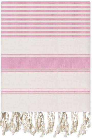 Pink Woven Texture Fouta
